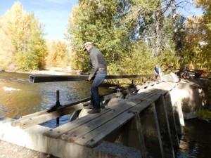 Replacing Wood at Head Gate